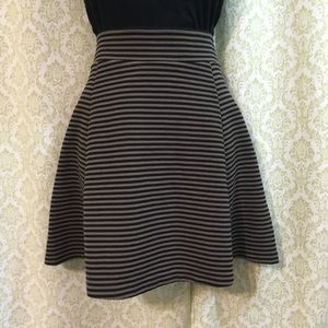 Banana Republic striped skater skirt